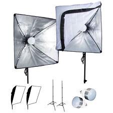 6PCS LED 1200W 20in. Softbox Photo Studio Background Light Kit Photography Video