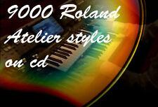cd cn collezione 9000 stili per organo Roland Atelier styles Rhythmen Musikstile