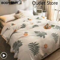 Fleece Blanket Flannel Thick Bedspreads Nordic Bed Quilt Throws Sofa Bedcover