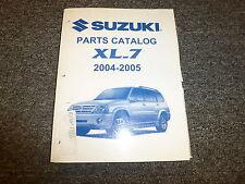 2005 Suzuki XL7 Parts Catalog Manual LX EX III JLX Plus JX 2.7L V6