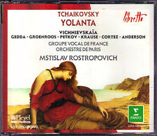 Tchaikovsky: Yolanta Galina Vishnevskaya Nicolai Gedda Rostropovich Iolanta 2cd