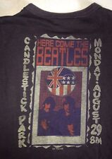 VINTAGE THE BEATLES candlestick park S.F. JUNK FOOD LADIES SMALL T- SHIRT ROCK