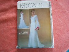 Vtg Pattern 2004 Alicyn Bridal Gown Gathered Bodice Flounce Sheer Sleeves 16-22