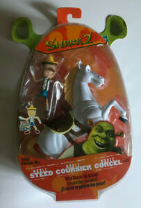 SHREK 2 MOVIE ACTION FIGURE NOBLE STEED AND PUPPET HASBRO NEW