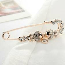 Fashion Golden Fish Pin Brooch With Diamonds One-word Pin Brooch Female Q