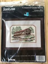 Janlynn Counted Cross Stitch Kit Covered Bridge 1991