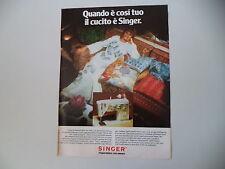advertising Pubblicità 1974 MACCHINA PER CUCIRE SINGER 740