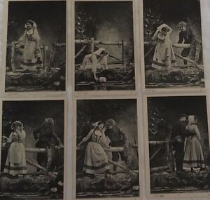 * Série de 6 cartes postales fantaisie