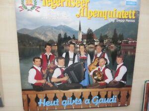 LP TEGERNSEER ALPENQUINTETT - HEUT GIBTS A GAUDI - KOCH 1985