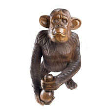"""Wooden Monkey XL 25"""" Hand Carved Ornament Home Decor."""