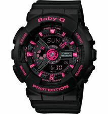 Casio Baby-G BA-111-1ACR Analog-Digital Display Black Dial Women's Wristwatch