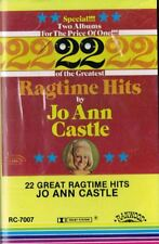 22 Great Ragtime Hits by Jo Ann Castle Audio Cassette Tape 1977 Ranwood Sealed