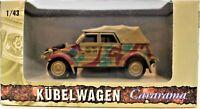 Kubelwagen Cararama 1:43 Scale Die Cast & Plastic Hongwell Military Vehicle Camo