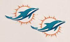 2x Miami Dolphins Car Bumper Laptop iPhone Wall Vinyl Die Cut Sticker Decal