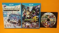 Nintendoland, Marvel Avengers, Star Fox Zero - Nintendo Wii U Game Lot Tested