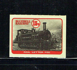 Bluebell Railway 1978 15p black & red letter stamp unmounted mint as per scan