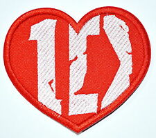 BIG 4 inch ~ ONE DIRECTION 100% Love You Music Band Embroidered Iron On patch