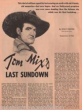 Tom Mix - Cowboy Movie Stars Last Sundown