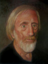 "Oil on Canvas, Portrait of Gentleman ""Jess"" by Contemporary Artist Gwen Robinson"
