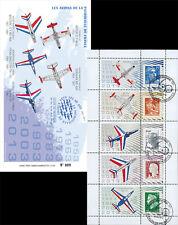 """PAF-C2 Carnet Porte-timbres """"60 ans Patrouille de France / Avion ALPHAJET"""" 2013"""