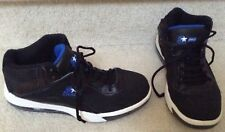 Starter Pro Leather Black With Blue Accents Athletic Shoes SZ 9