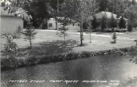 D7/ Indian River Michigan Mi Photo RPPC Postcard c40s Cottage Scene Camp Modoc 2