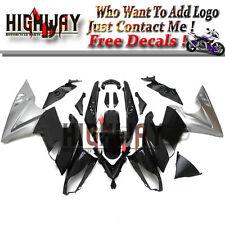 Body Grey Black ABS Fairings For Kawasaki ER-6F Ninja 650 09-11 Bodywork Kits hn