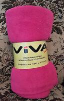 Kuscheldecke / Tagesdecke / Decke pink rosa Microfaser / Microflausch kuschlig
