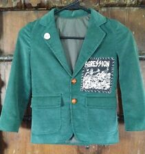 Vintage Punk Rock Jacket With Custom Agression Patch Work and Loads Pin Button