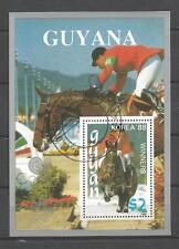 Jeux Olympiques d' été Guyana (11) bloc oblitéré