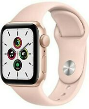 NEW SEALED Apple Watch SE GPS 40mm Gold Aluminum Case with Pink Sand Sport Band