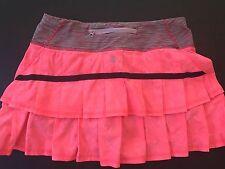 LULULEMON Pace Setter Skirt Flash Jacquard Wee Stripe EUC Retired Style Sz 4