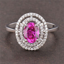 2.10 CARAT 14KT WHITE GOLD NATURAL PINK TOURMALINE & EGL CERTIFIED DIAMOND RING