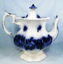Antique Persian Rose Flow Blue Coffeepot Teapot Ironstone Coffee Tea Pot As Is