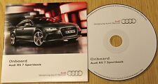 Genuine Audi RS7 Sportback Onboard CD Disco Manual Manual 152.565.4GR.88