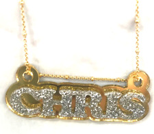 Name Plate Custom Name Necklace Personalized Nameplate Gold With Diamond Look!