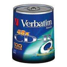 100 X Verbatim DataLife-CD-R 's - 52x - 700 MB - 80 minuti-consegna gratuita 24H