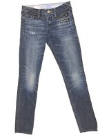 GAP 1969 Jeans Women Size 0 25 Always Skinny Dark Wash Zipper