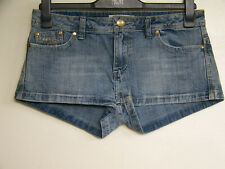 Blue Stretch Denim Shorts Size 12 House of Denim Embellishment on Pockets