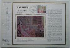 BALTHUS  Feuillet CEF Timbre 1er jour SOIE - 1982