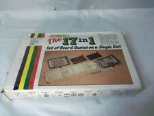 Classic Travel Board Games NEW Vtg Magnetic Scroll Chess Checkers Backgammon