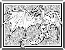 Coloring Page - Dragon # 10 - SEMTURGAN (Hi-Res JPG file will be sent by email)