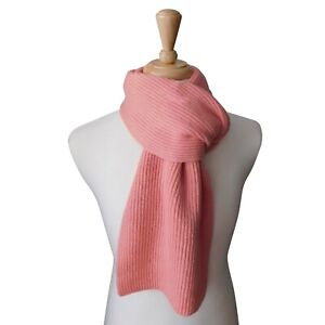 Pure Cashmere Wide Ribbed scarf - Handknitted in Hawick, Scotland