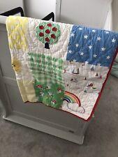 Little Bird By Jools Oliver Patchwork Quilt Nursery Retro Bright Rainbow Baby