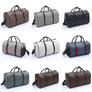 Faux Leather Holdall Luggage Weekend Duffel Cabin Travel Gym Bag Case