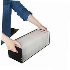 jackcubedesign leather stacking cd tray case storage box shelf dvd organizer