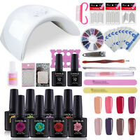 80 Colors Nail Gel Polish Kit 36W UV LED Lamp Nail Tools Kit - Pick Any 8 Gels
