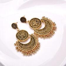 Women Boho Earrings Punk Geometric Moon Ear Stud Vintage Tribal Ethnic Jewelry