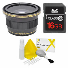 58MM X38 FISHEYE LENS +16GB FOR Canon Rebel EOS XTI 1200D T3 T3I T4 T5 T6 7D 6D