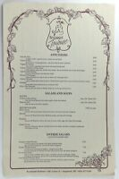 1980's Original Dinner Menu French RESTAURANT TOULOUSE Saugatuck Michigan